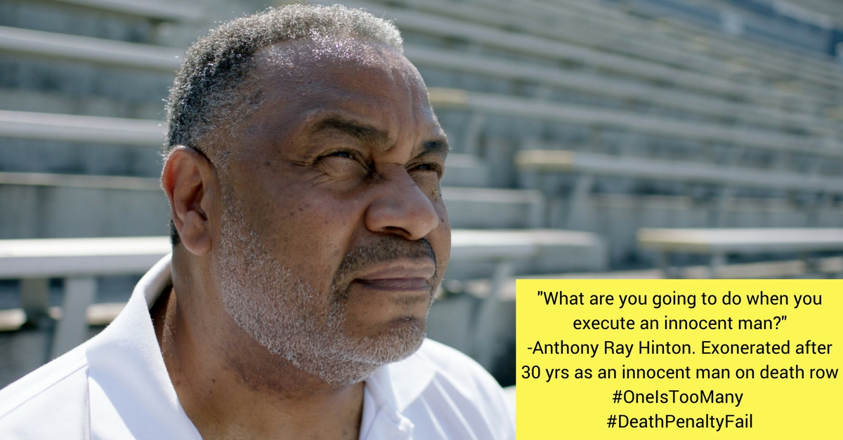 -What are you going to do when youexecute an innocent man---Anthony Ray Hinton. Exonerated after30 yrs as an innocent man on death row#OneIsTooMany #DeathPenaltyFail